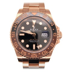 2020 Rolex GMT Master II 18K Everose Gold Root Beer Ceramic Vintage Watch 126715