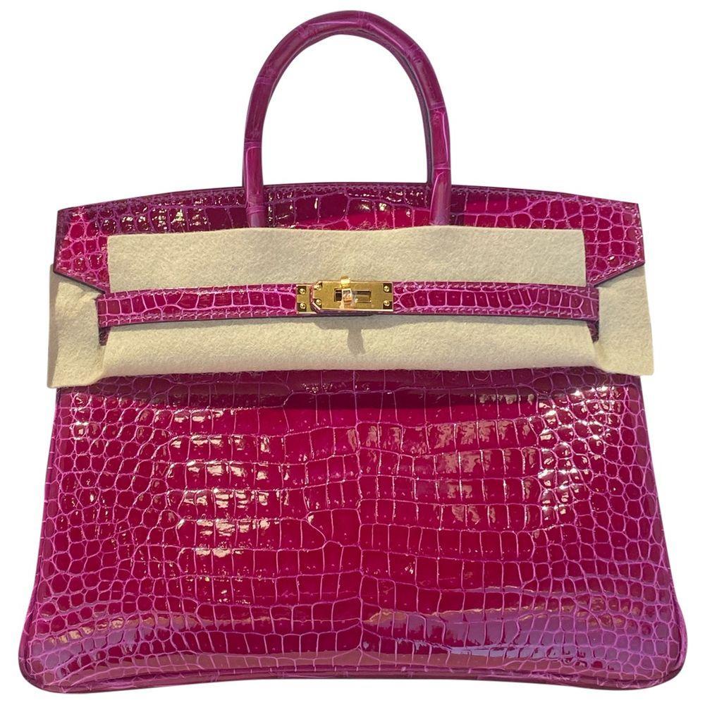 2021 Hermès Rose Sheherazade crocodile birkin 25