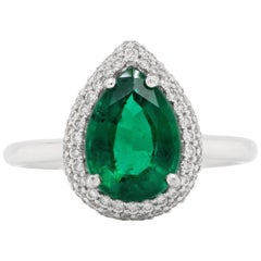 2.03 Carat Emerald Diamond Solitaire Ring
