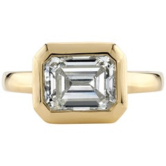 2.03 Carat GIA Certified Emerald Cut Diamond Mounted in an 18 Karat Gold Ring
