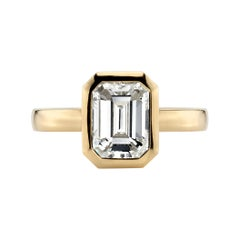 2.03 Carat GIA Certified Emerald Cut Diamond Set in an 18 Karat Yellow Gold Ring