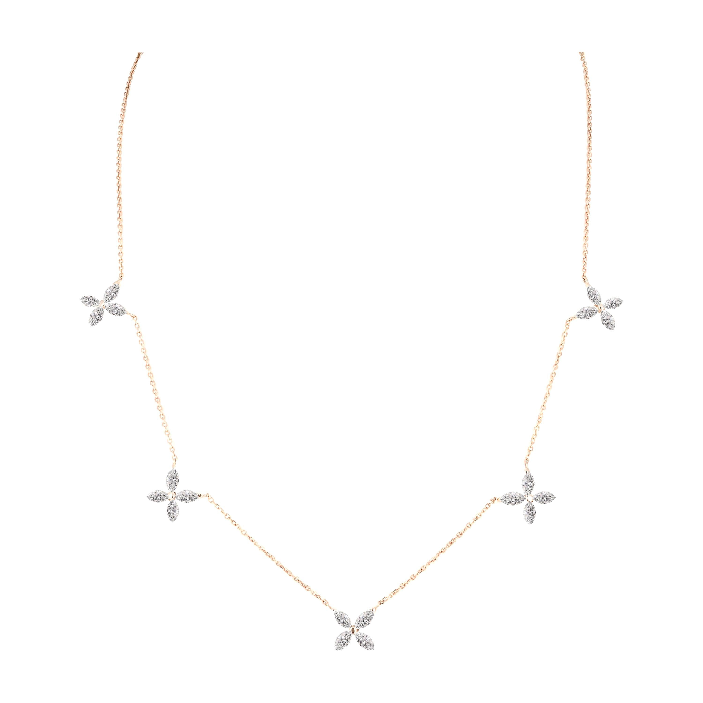 2.03 Carat Marquise Diamond Adjustable Necklace