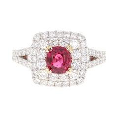 2.03 Carat Spinel Diamond 18 Karat White Gold Engagement Ring