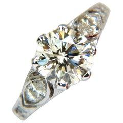 2.03 Carat Victorian Revival Natural Diamond Ring 14 Karat Round Brilliant
