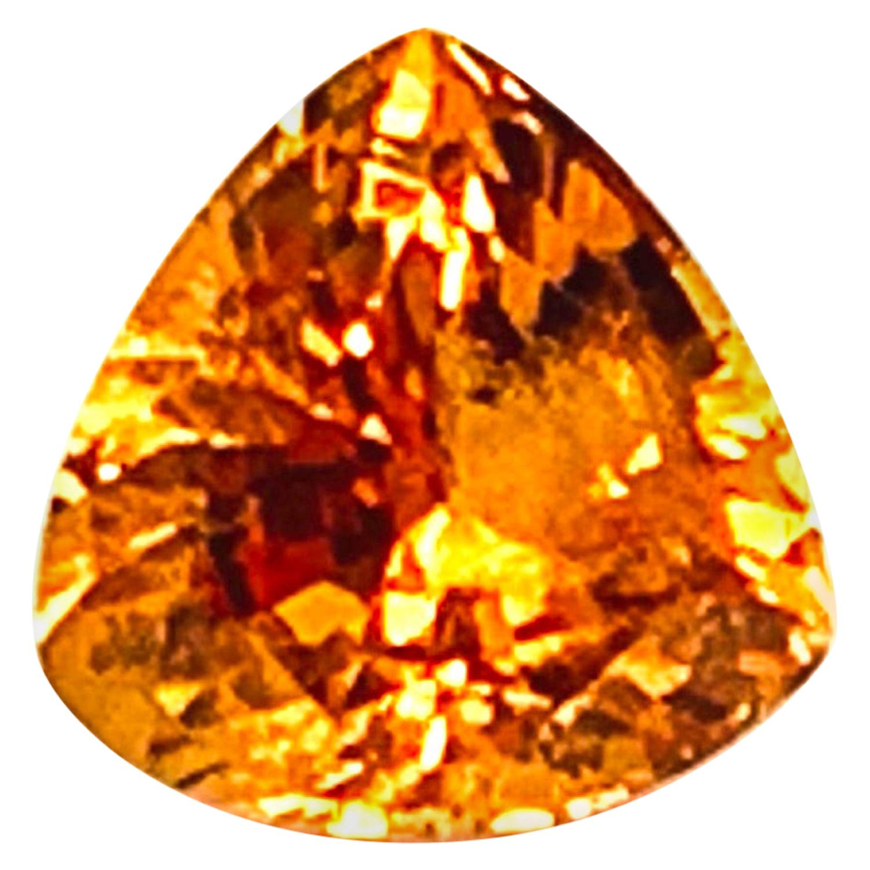 2.03 ct Spessartite Garnet Trillion, Unset Loose Pendant Necklace Ring Gemstone