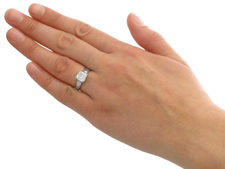 2.04 Carat Diamond Gold Platinum Solitaire Engagement Ring For Sale 1
