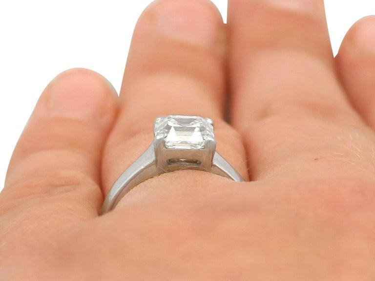 2.04 Carat Diamond Gold Platinum Solitaire Engagement Ring For Sale 3
