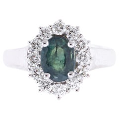 AIG Certified 2.03 Carat Oval Natural Color Changing Alexandrite Ring