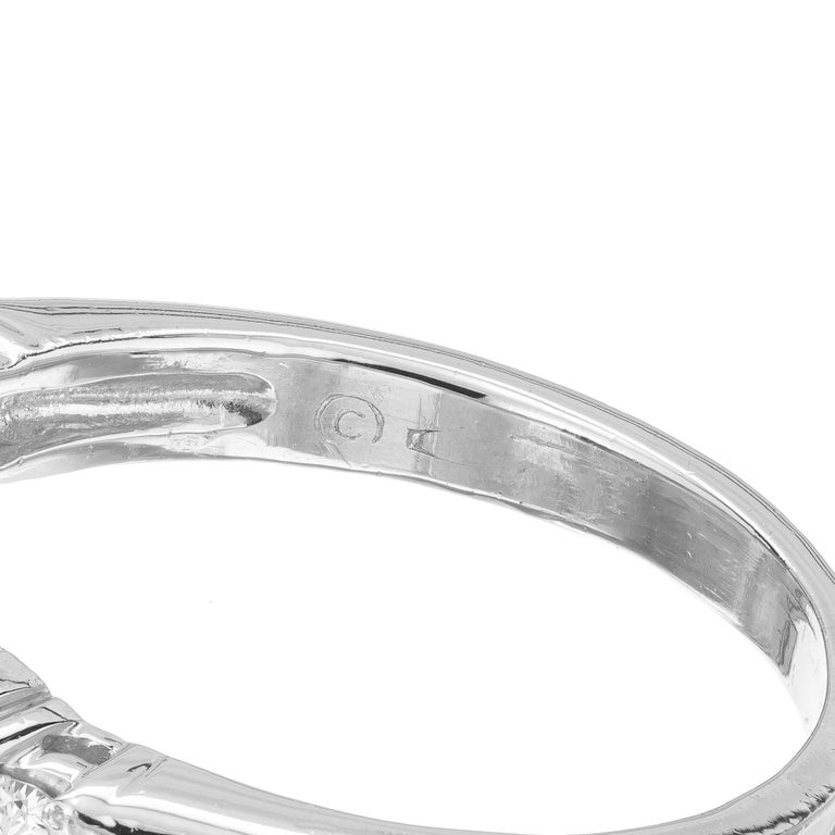 Women's 2.04 Carat Red Tourmaline Diamond Platinum Engagement Ring For Sale