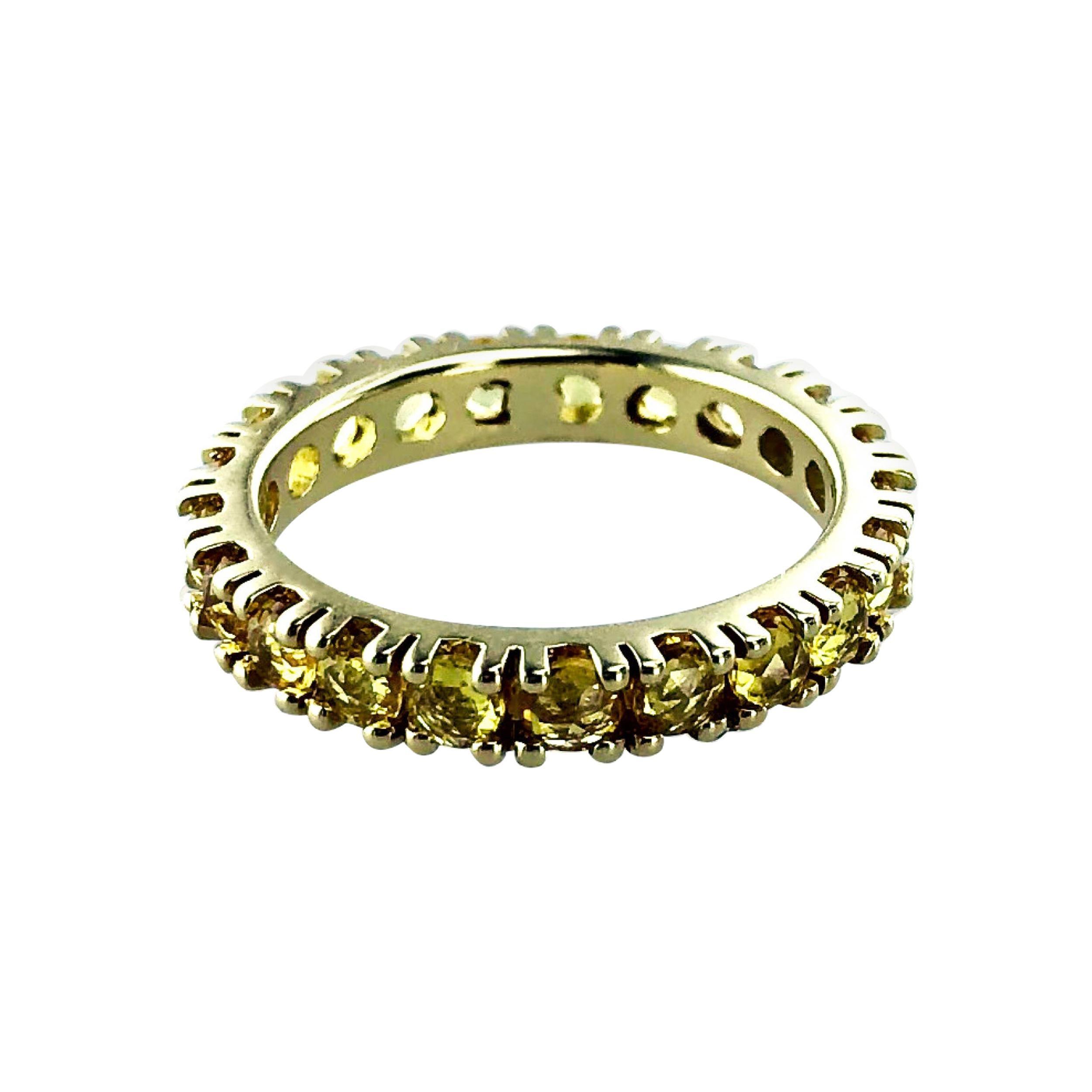 Yellow Sapphire 2.04 Carat Unisex Eternity Ring