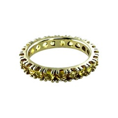 2.04 Carat Yellow Sapphire Set in 18Kt Yellow Gold Unisex Corone Eternity Ring