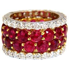20.40 Carat Natural Ruby Diamonds Eternity Ring 18 Karat Natural Vivid Reds