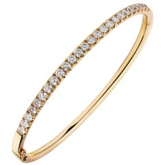2.05 Carat Diamond Bangle Bracelet in 18 Karat Rose Gold