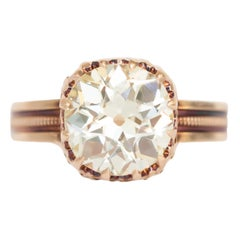 2.05 Carat Diamond Rose Gold Engagement Ring