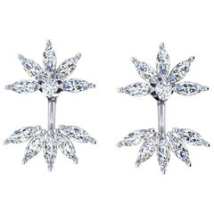 2.05 Carat Marquise Diamonds 18 Karat Gold Earrings