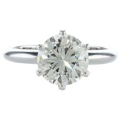 2.05 Carat Six Prong Solitaire Engagement Diamond Ring
