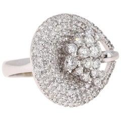2.06 Carat Diamond Cocktail 14 Karat White Gold Ring