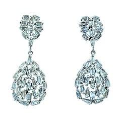 2.08 Carat Diamond 18 Karat White Gold Earring