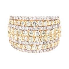 2.08 Carat Diamond Band Ring in 14k Yellow Gold
