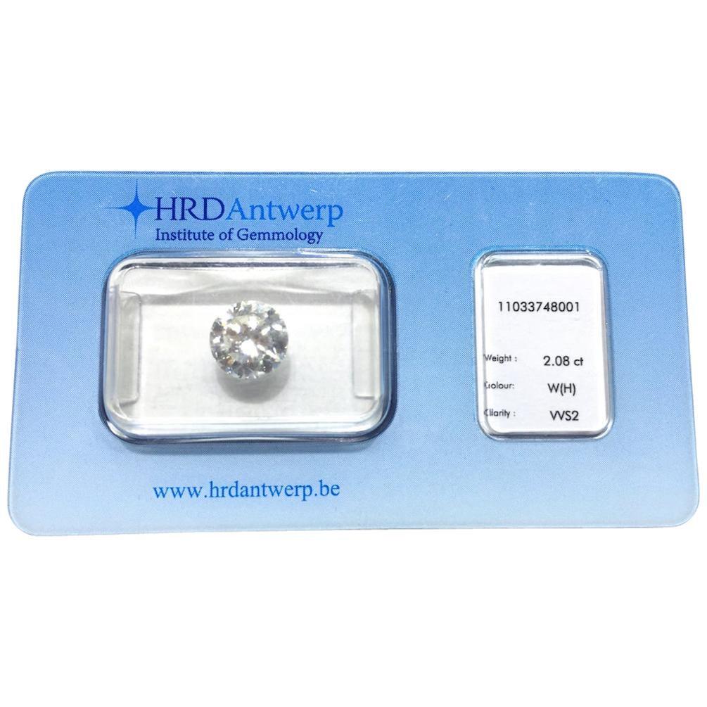 2.08 Carat HRD Certificate White Diamond