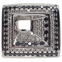 2.08 Carat White Gold Black Diamond Ring