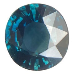 2.08ct GIA Certified Fine Green Blue Teal Untreated Sapphire Oval Cut Unheated