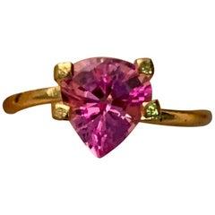 2.09 Carat Pink Pear Shape Sapphire Loose Gemstone