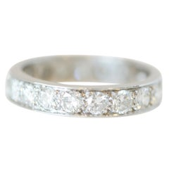 2.09 Carat Vintage Diamond Platinum Eternity Band, circa 1950