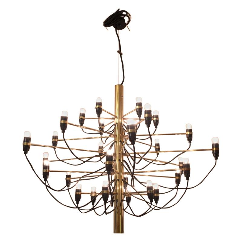 2097/30 Brass Chandelier by Gino Sarfatti, Italy, 1958