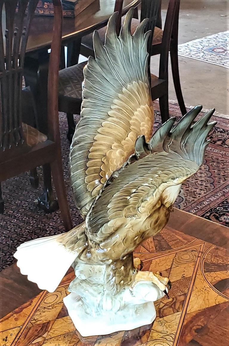 20th Century 20C Selb German Porcelain Bald Eagle Sculpture For Sale