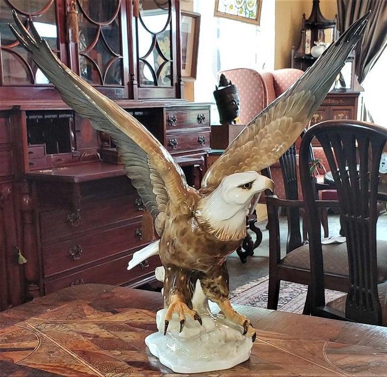 20C Selb German Porcelain Bald Eagle Sculpture For Sale 1