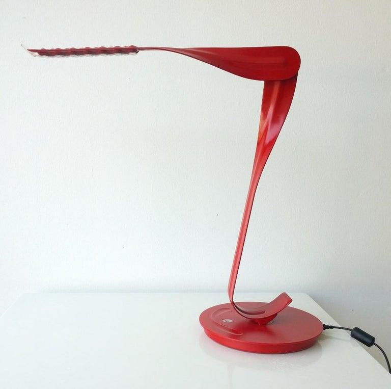 Minimalist Modern Signed Herman Miller Red and Black