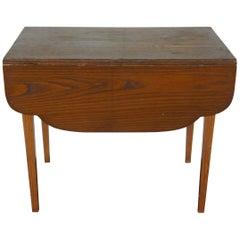 Antique Miniature Salesman Sample Pine Shaker Drop-Leaf Dining Table