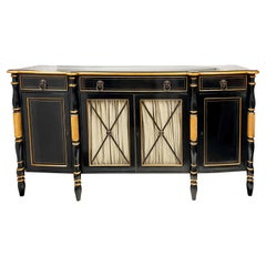 20th-C Ebonized Regency Style Server or Sideboard by Hickory White Furniture