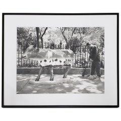 "Leo Theinert 'American' ""Clean Sweep"" Original Black and White Photo"