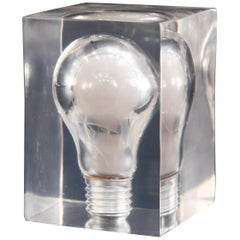 20th Century Lucite Light Bulb Sculpture