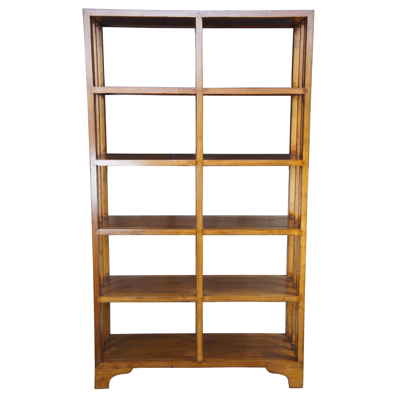 20th C. Mission Arts & Crafts Oak Bookcase Etagere Bookshelf Room Divider