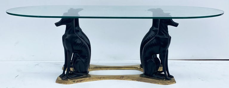 Philippine 20th Century Neoclassical Style Whippet and Brass Coffee Table by Maitland-Smith For Sale
