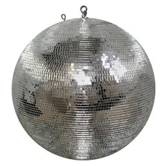 20th Century Spinning Mirror Disco Ball with Motor