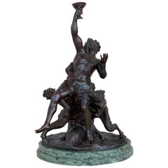 19th Cast Bronze Statue of a Cherub Angel Signed by Ferdinando de Luca, Italy
