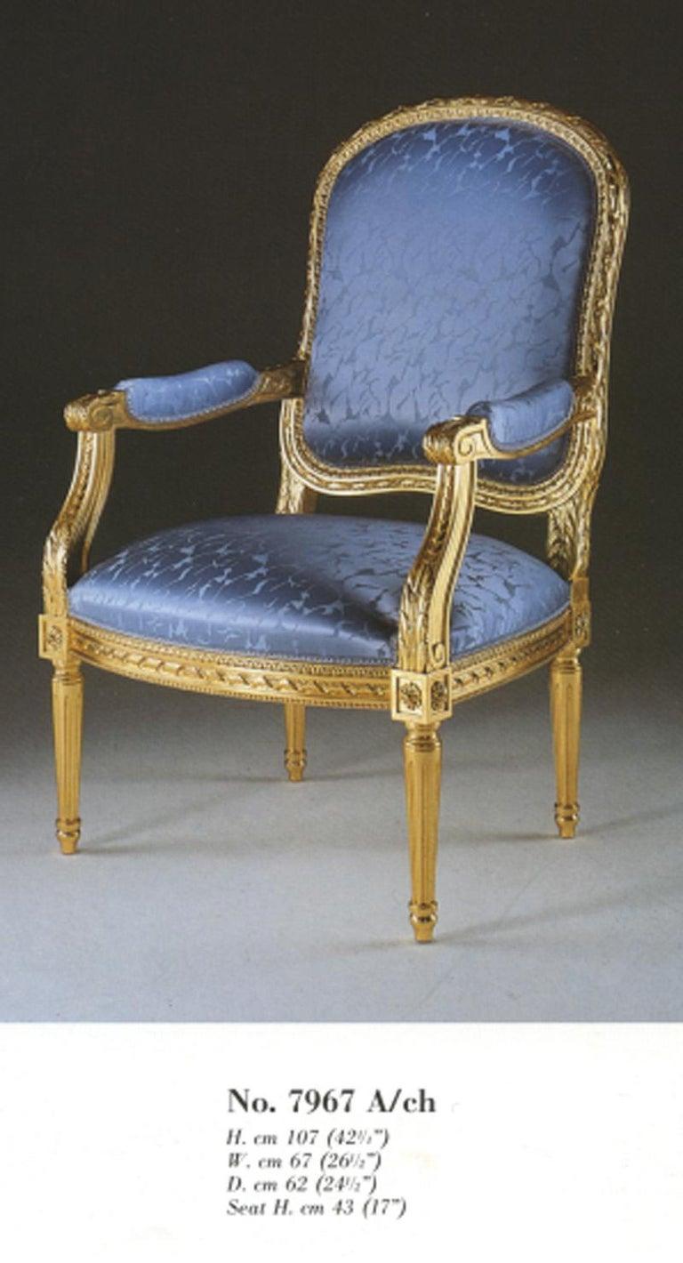 Italian 20th Century Louis XVI Armchair