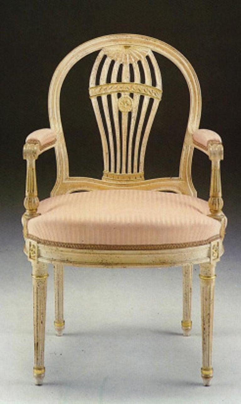 20th century Louis XVI dining armchair
