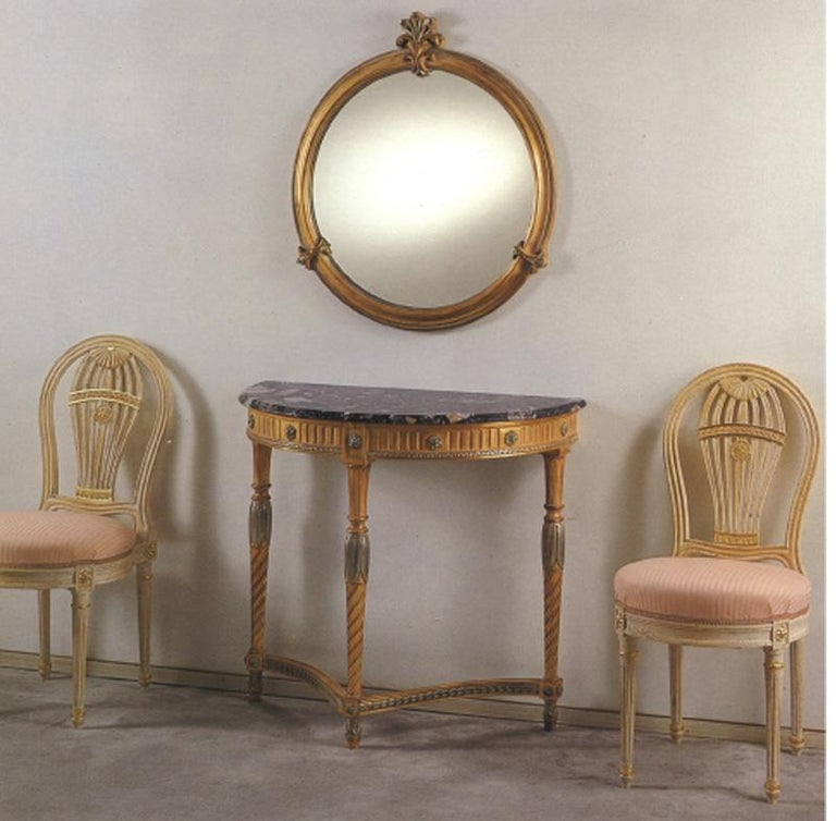 Hand-Carved 20th Century Louis XVI Dining Armchair