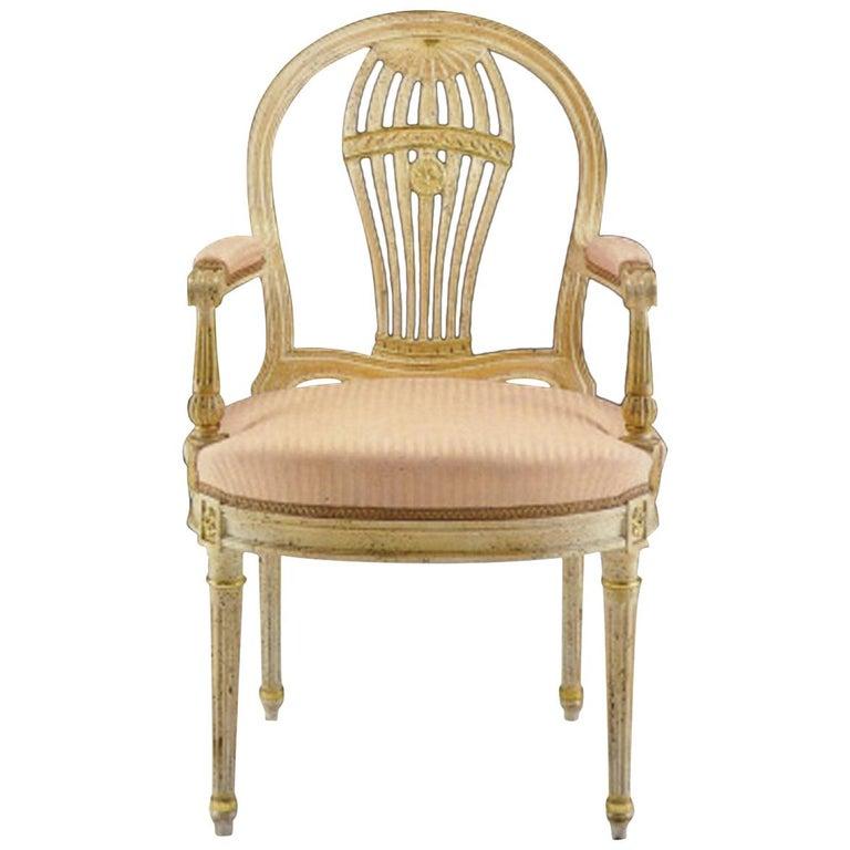 "20th Century Louis XVI Dining Armchair ""Copy D'ancienne"" For Sale"