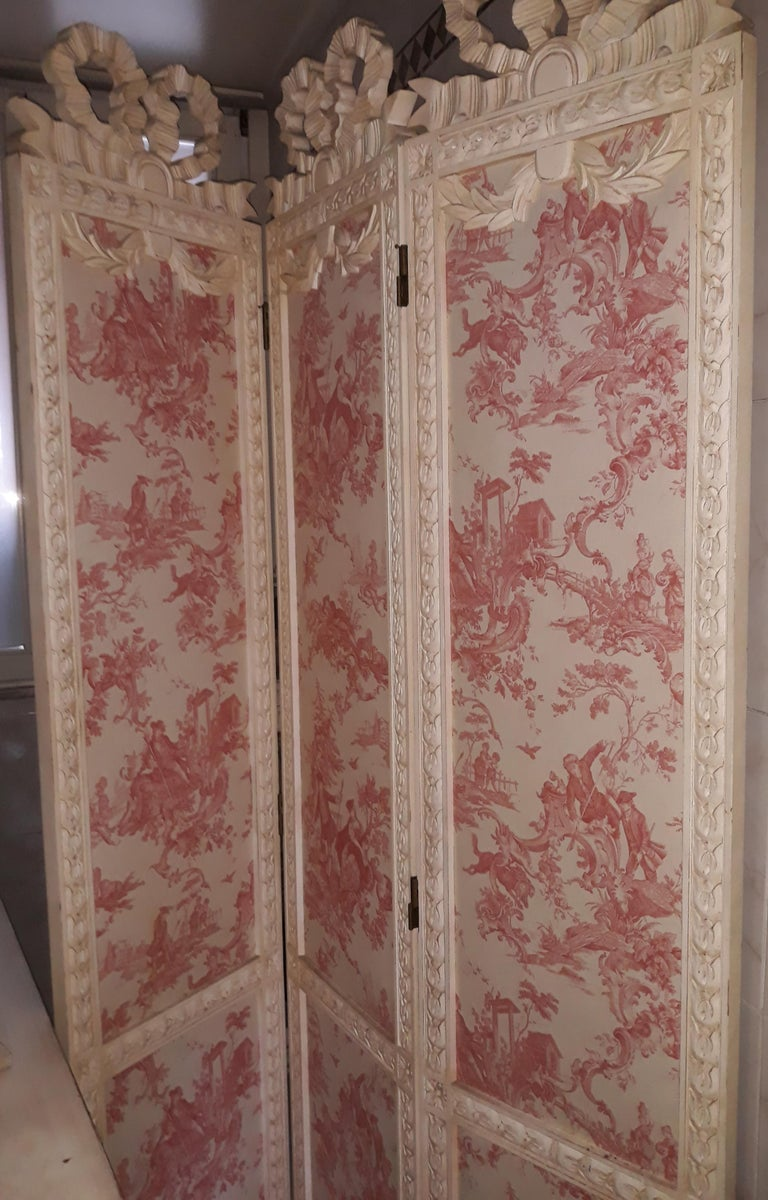 Hand-Carved 20th Century Louis XVI Screen