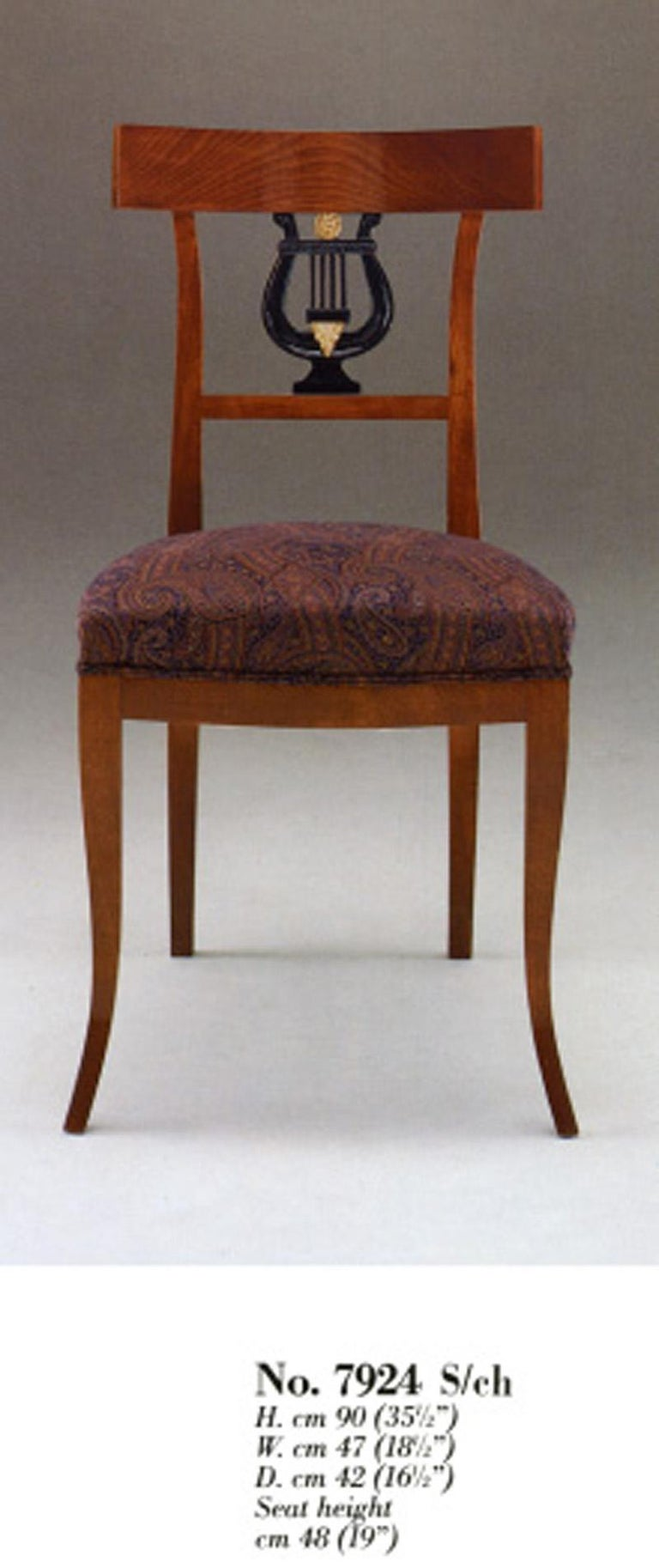 Hand-Carved 20th Century Neoclassical Dining Chair