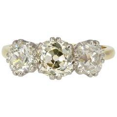 20th Century 1.50 Carat Diamonds 18 Karat Yellow Gold Garter Ring