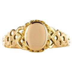 20th Century 18 Karat Yellow Gold Ladies Signet Ring