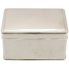 20th Century 1933 Antique Dutch Silver Biscuit Box