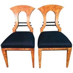 20th Century 2 Biedermeier Style Chairs, Vienna